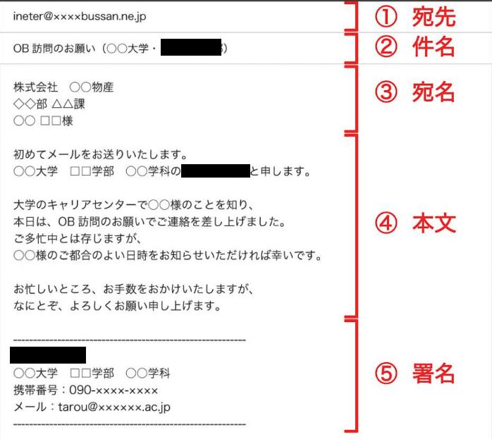 就活の訪問メール